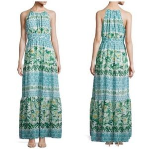 Eliza j boho blue green tiered maxi dress 6